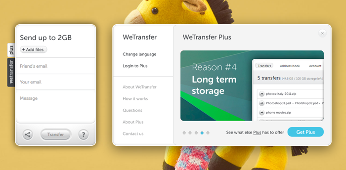 upgrade wetransfer