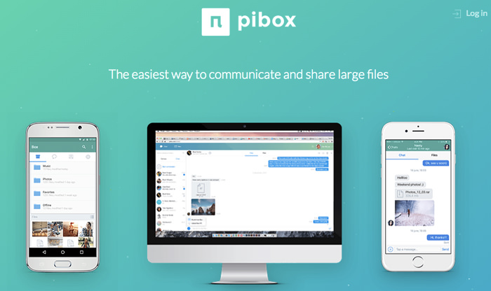 send large files easily with pibox