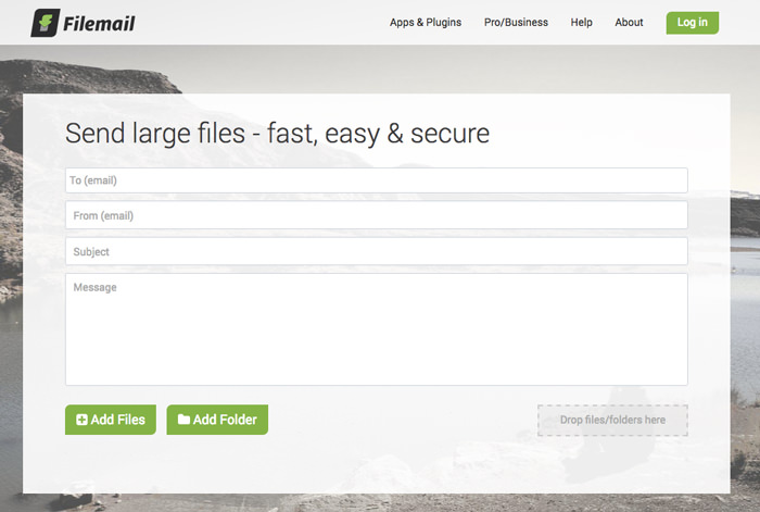 send large files with filemail