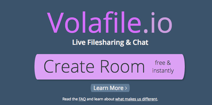 create room with volafile