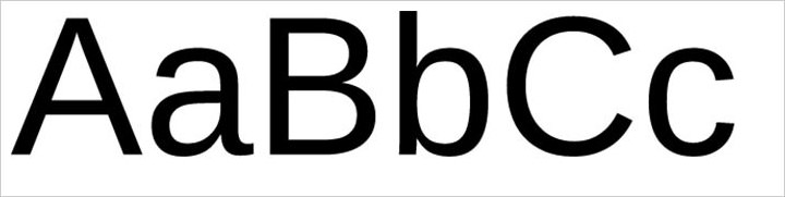 sans-serif example