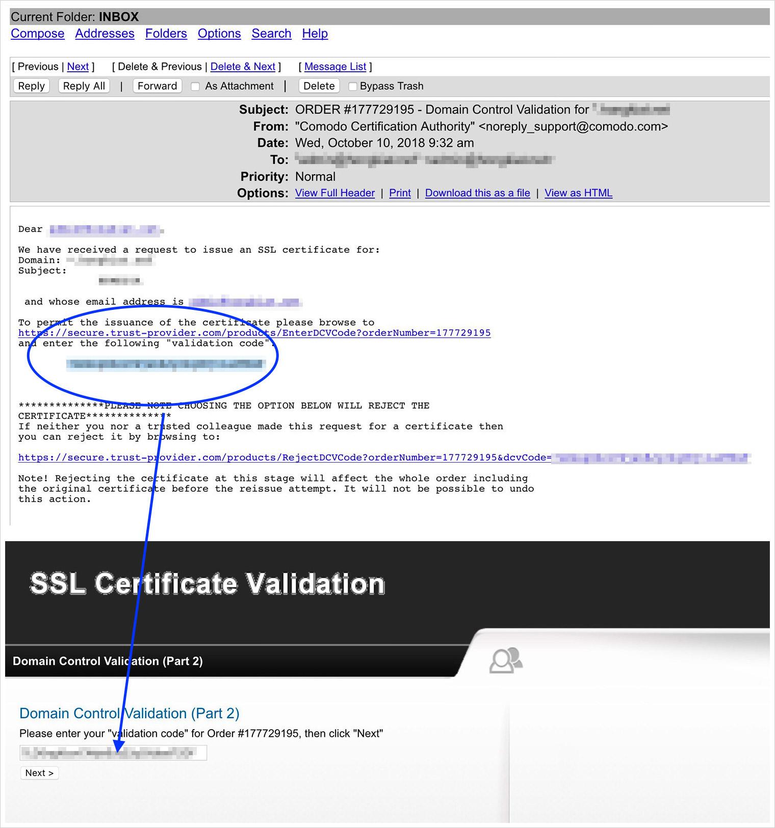 dcv email validate