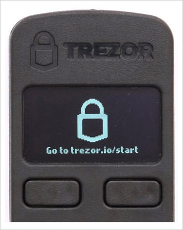 trezor first screen