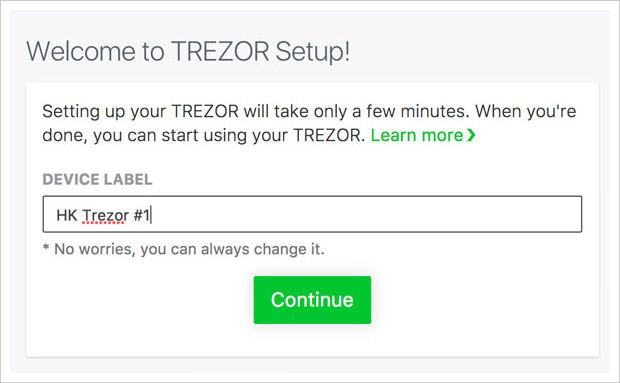 trezor label