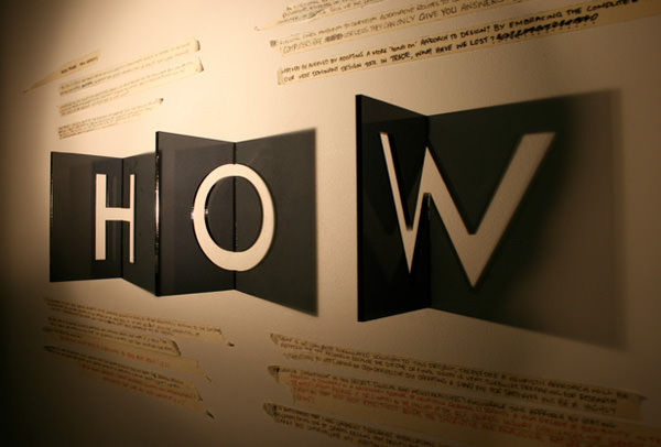 Typography Shadow Play