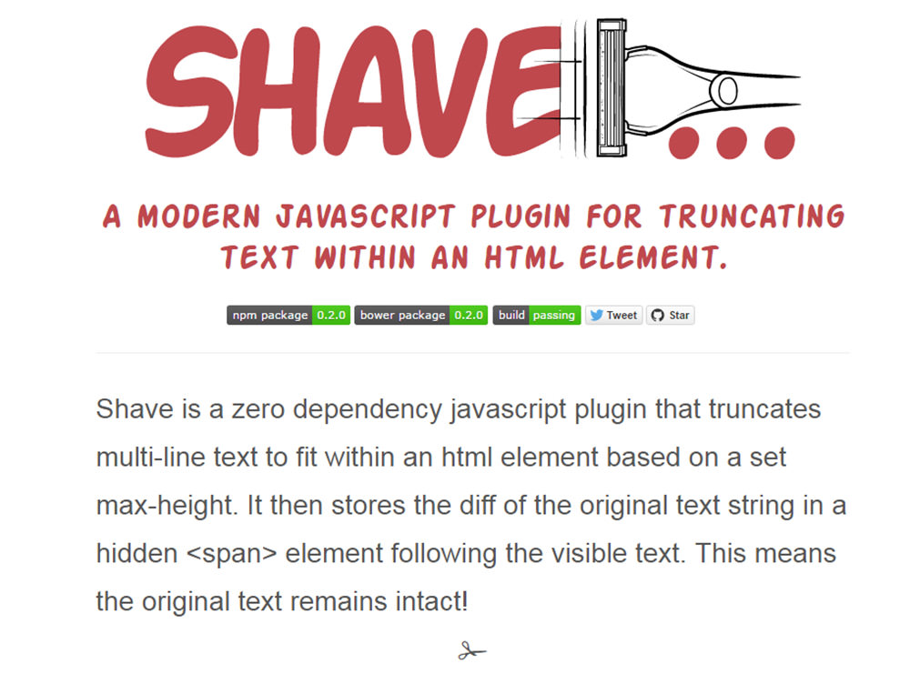 shave plugin homepage