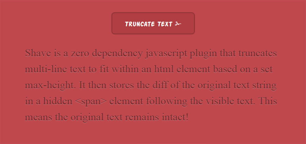 truncated text plugin