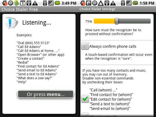 Hands-Free Voice Dialer