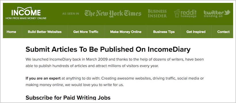 incomediary-sites-pay-to-write-blog