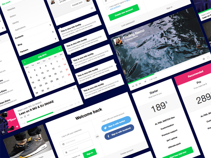 flexible ui kit freebie