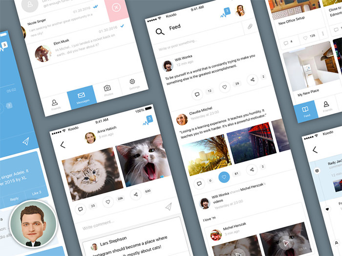 social ios app ui kit