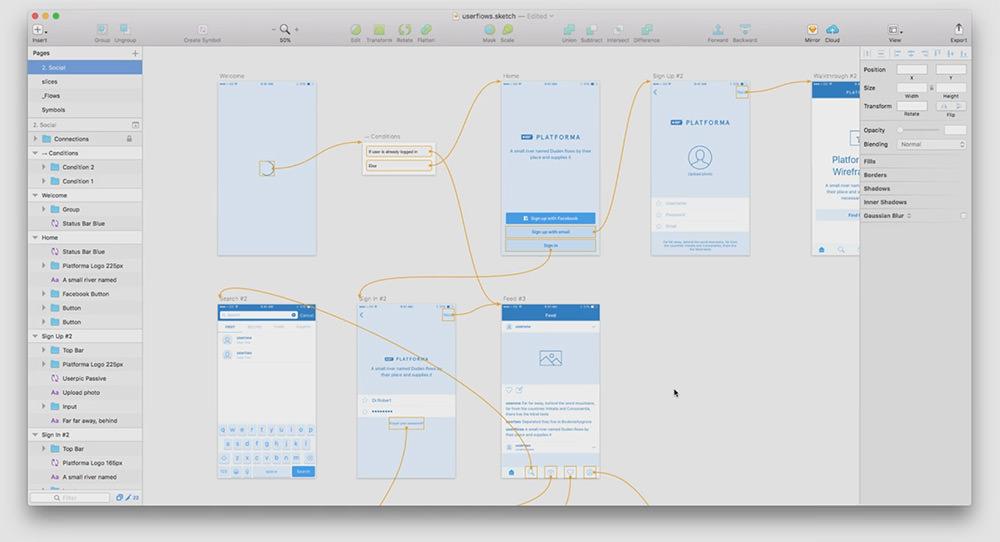 user flows sketch
