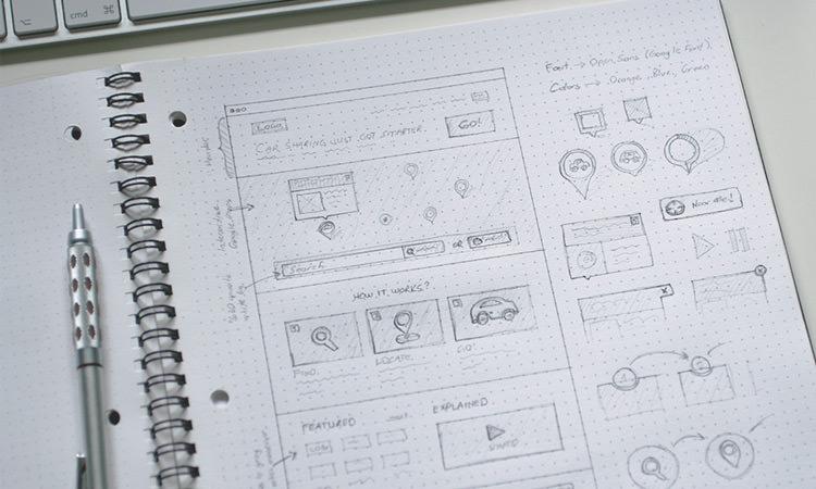 Notebook Sketching Dots Grid