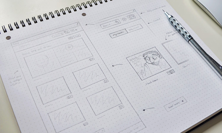 Grid Notebook Sketching Wireframe