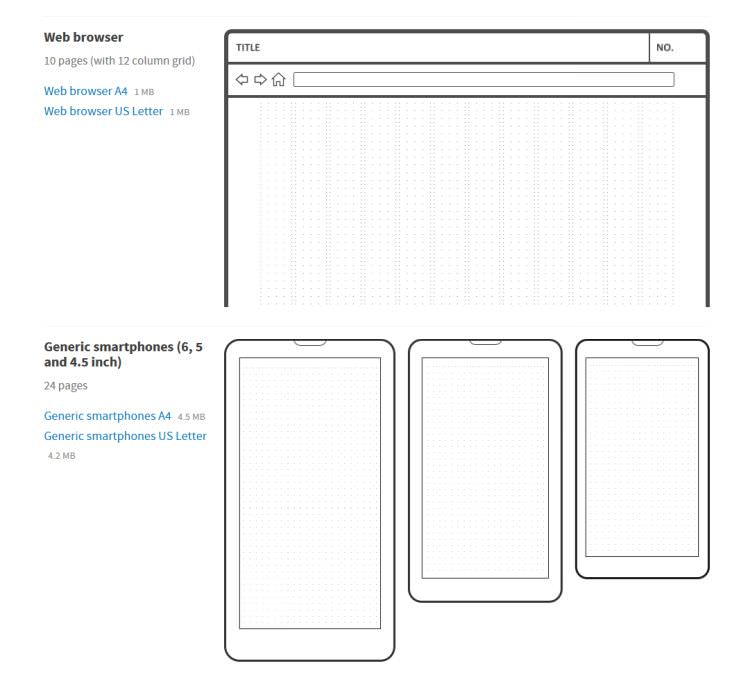 Interface Sketch Web App