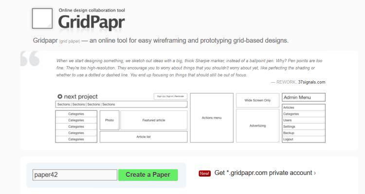 Grid Papr Web App