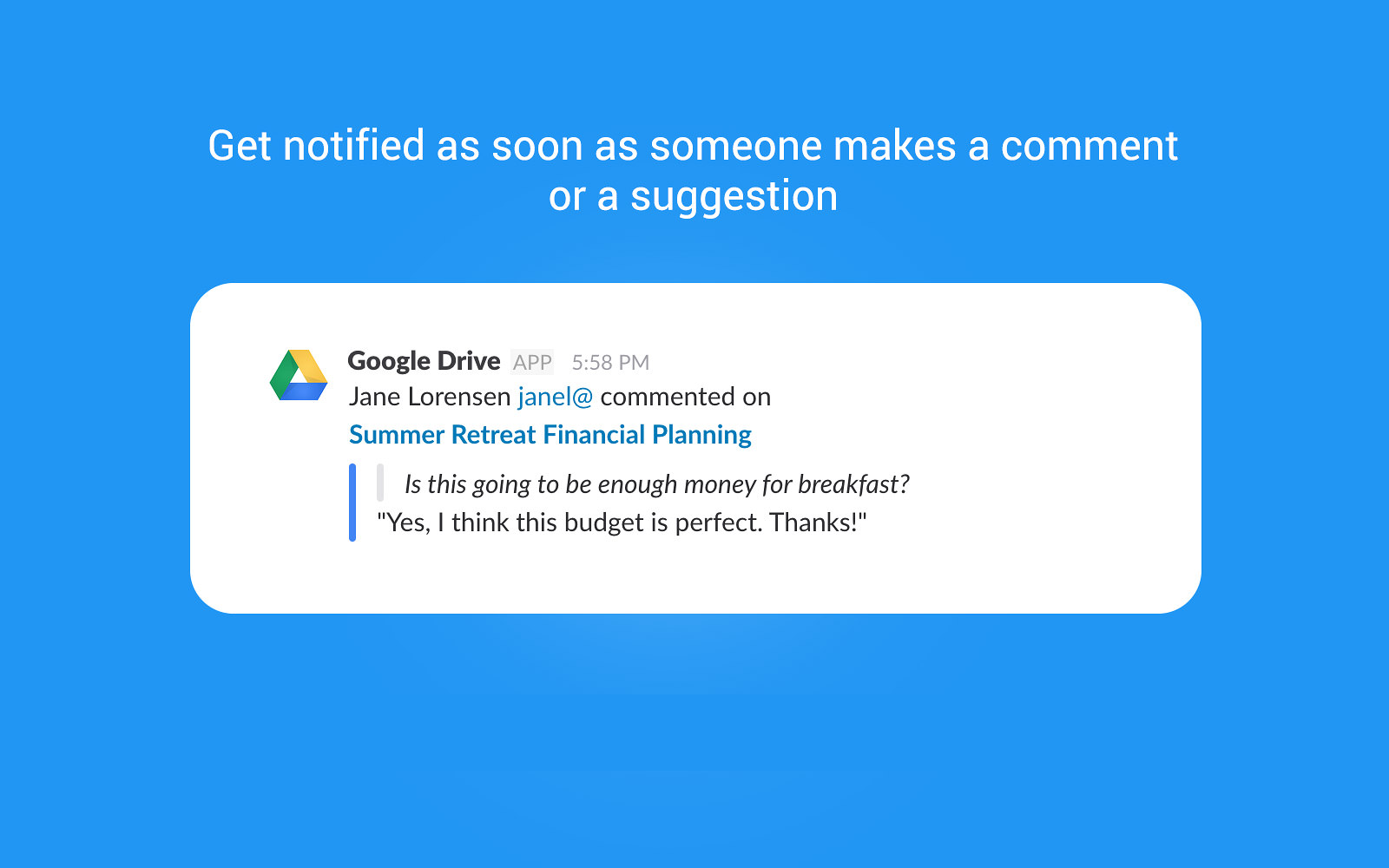 Google Drive for Slack