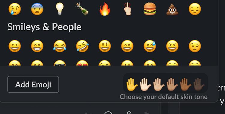 Slack emoji skin