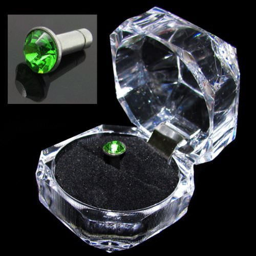 green rhinestone gem