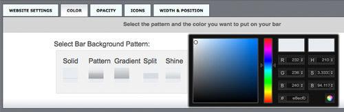 bumpin customize toolbar