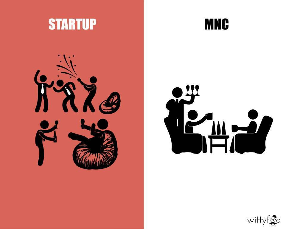 mnc vs startup