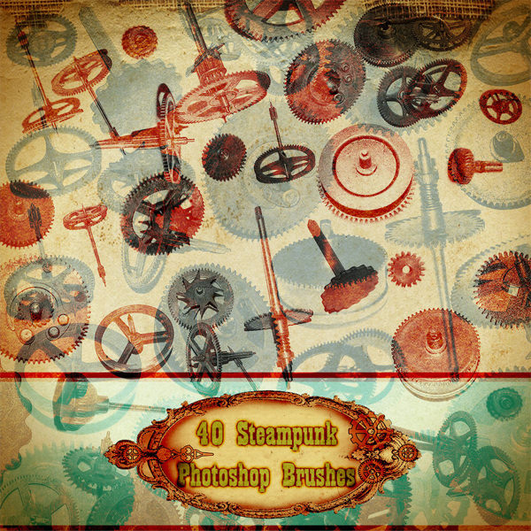 steampunk photoshop brushes