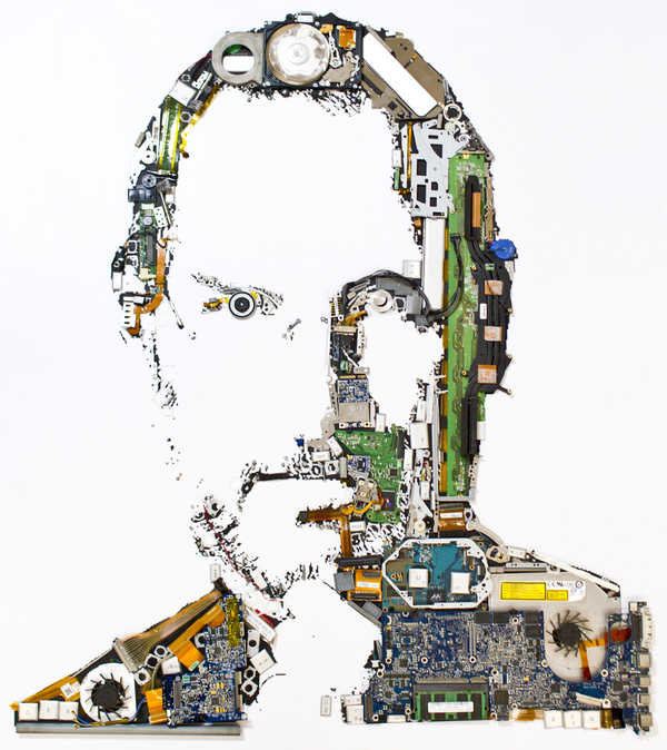 steve jobs from disassembled macbook pro