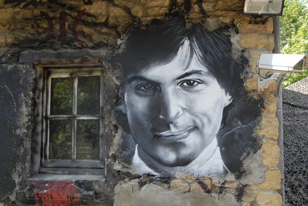 steve jobs - painted portrait