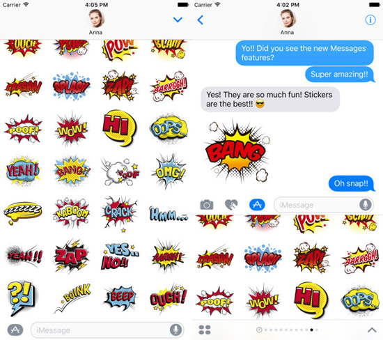 Comic Sticker Pack