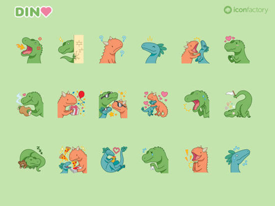 Iconfactory Dino Stickers
