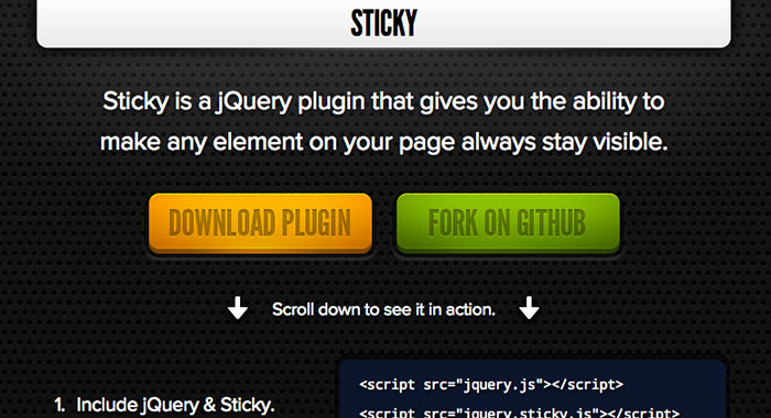 15 jQuery Plugins To Make Smart Sticky Elements