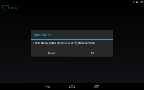 Install Mirror to System Partition
