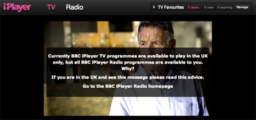 BBC iPlayer Unavailable