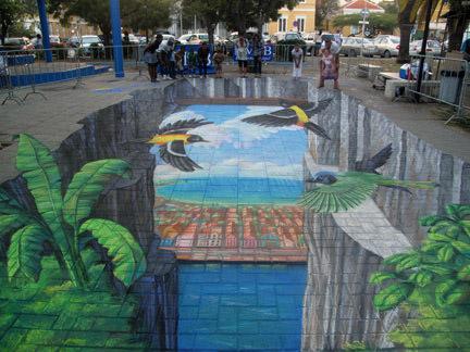 Cliffs of Curacao 3d art