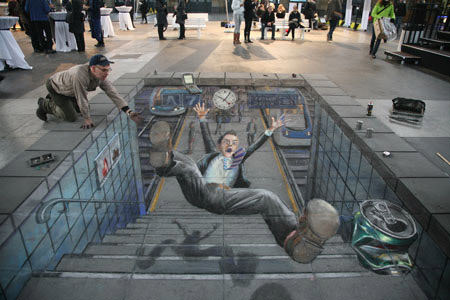 Accident Railway Station 3d art