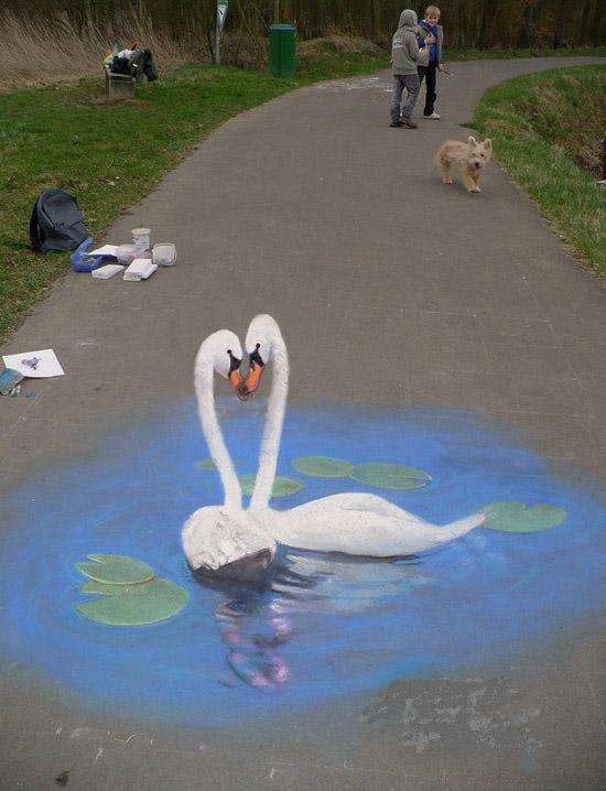 Swans 3d art