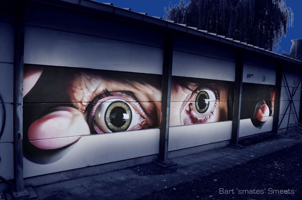 Mind-Blowing Street Art By Smates