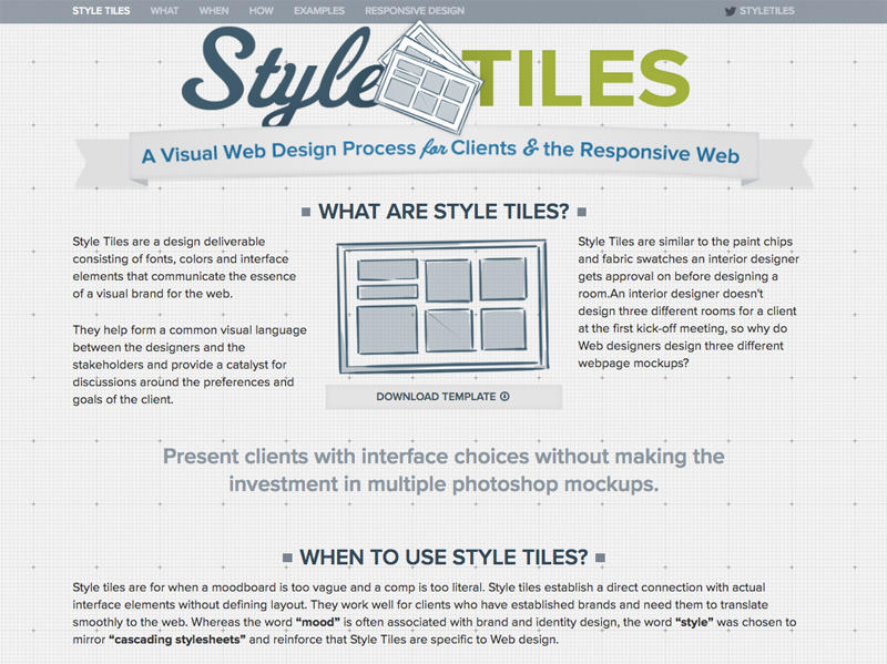 Style Tiles Home Page