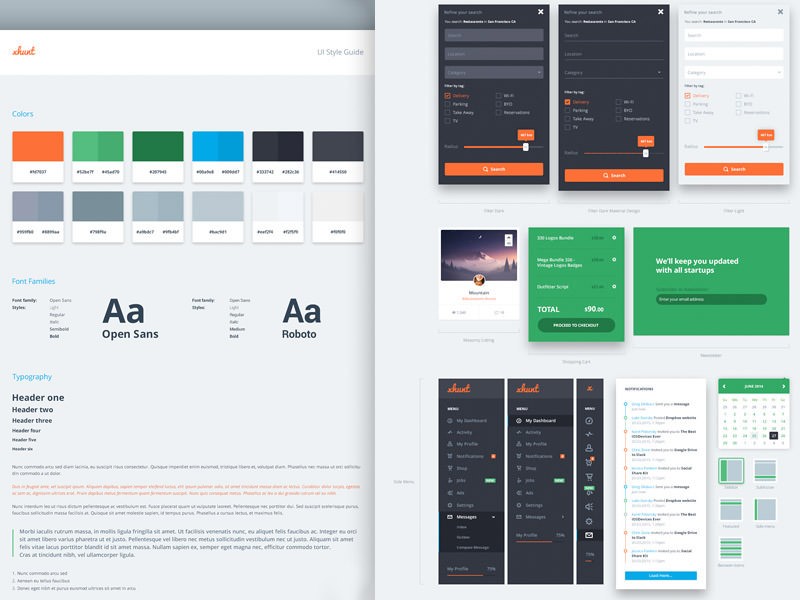UI Oversized Style Guide