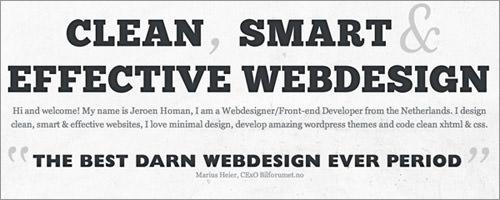 website design portfolio of Jeroen Homan