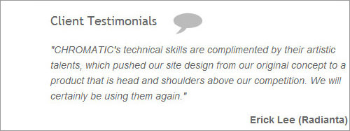Chromatic web design client testimonials