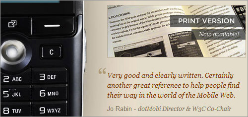 Mobile web design book blockquote testimonials