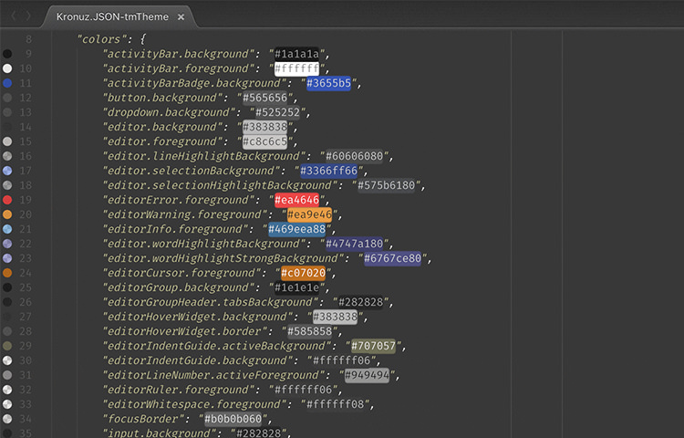 ColorHighlight setting in SublimeText