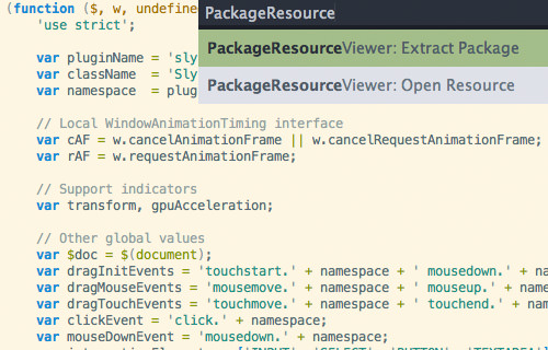package resource viewer