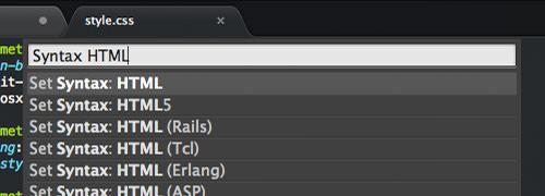 syntax html