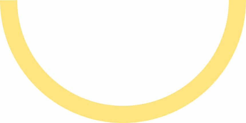 An upside down semi-circle