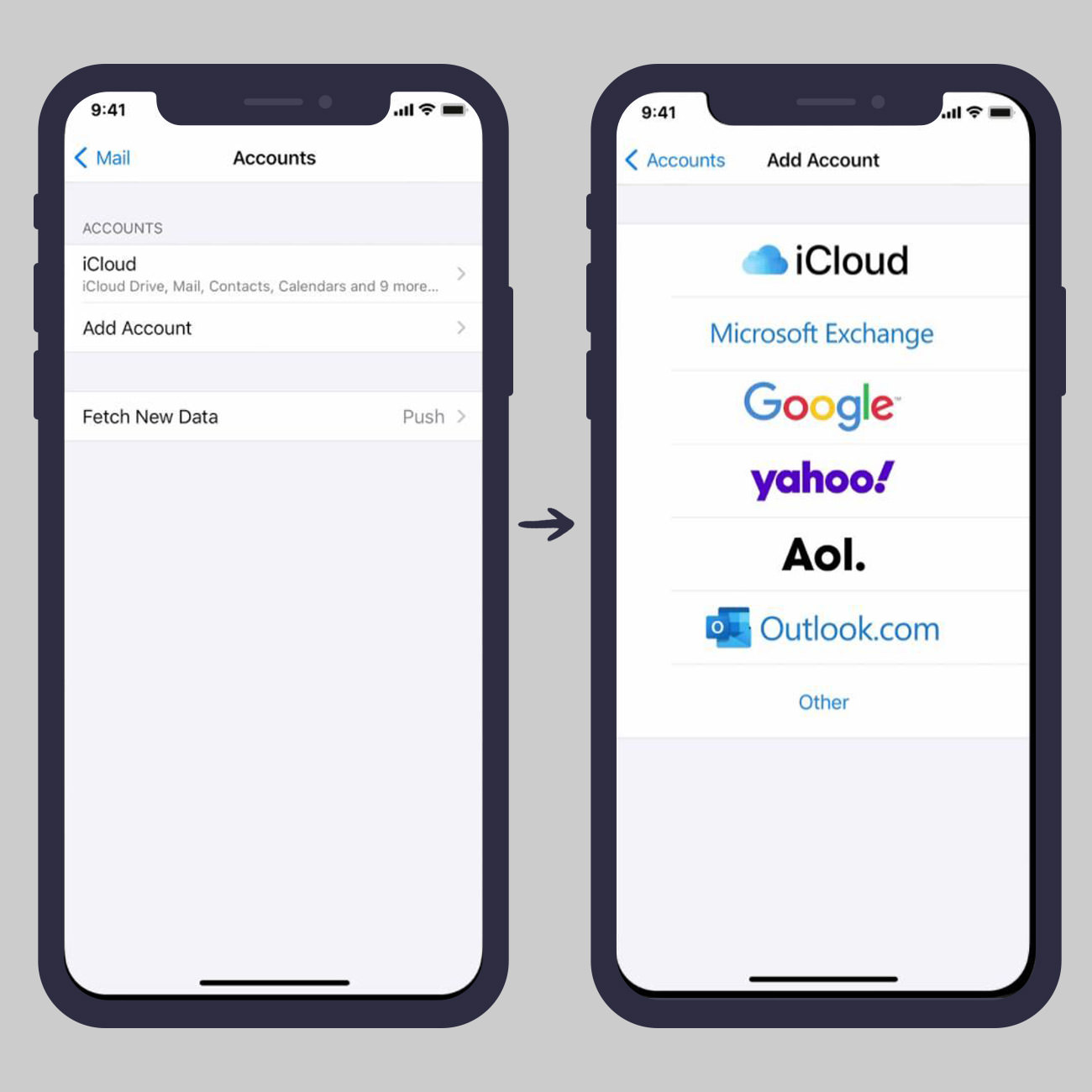 Add a Google or Gmail account in iOS