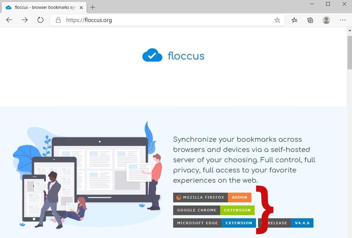 Установите надстройку Floccus в свой браузер