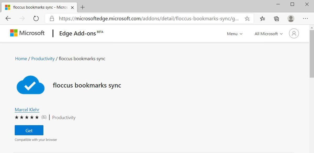Install Floccus in Microsoft Edge