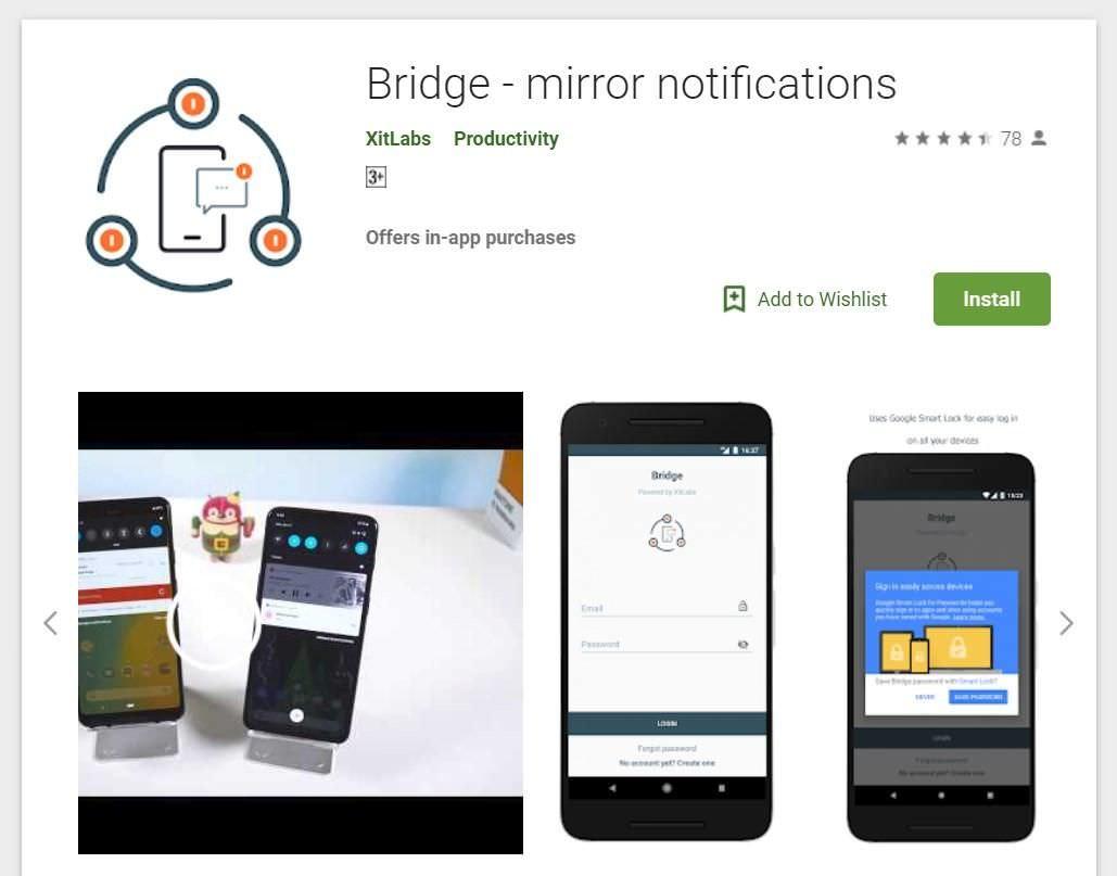 Bridge (an app) on the Play Store